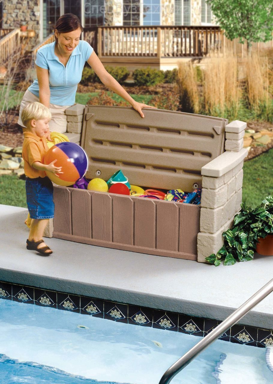 Ящик для игрушек на улице своими руками